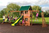 Backyard Adventures Playsets Backyard Discovery Prairie Ridge Brown Wood Play Set Cedar Stain