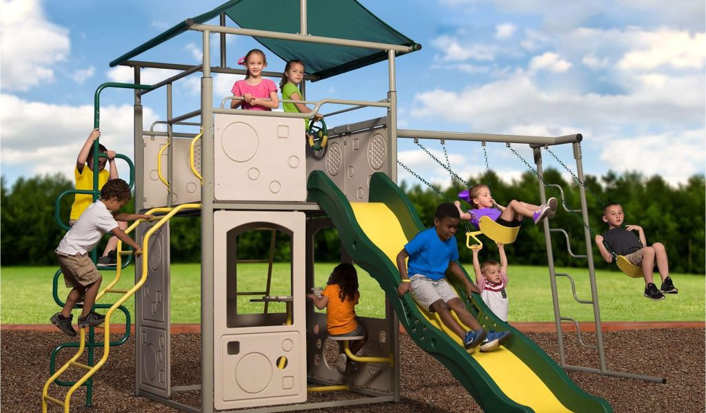 Backyard Discovery Dayton Cedar Wooden Swing Set Backyard Discovery