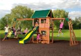 Backyard Discovery Oakmont Cedar Wooden Swing Set Backyard Discovery 55006 Prairie Ridge Brown Wood Swing Set Play Set