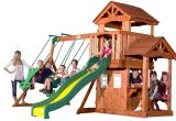 Backyard Discovery Oakmont Cedar Wooden Swing Set Backyard Discovery Tanglewood All Cedar Wood Playset Swing Set