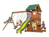 Backyard Discovery Oakmont Cedar Wooden Swing Set Leis 65114com Backyard Discovery Oakmont All Cedar Wood Playset