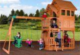 Backyard Discovery Oakmont Cedar Wooden Swing Set Liberty Ii Wooden Swing Set Playsets Backyard Discovery