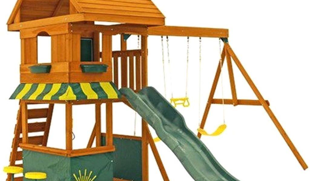 Backyard Discovery Tanglewood Cedar Wooden Swing Set Backyard