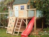 Backyard fort Kit Garden Playhouse with Ladder and Red Slide Backyard Pinterest