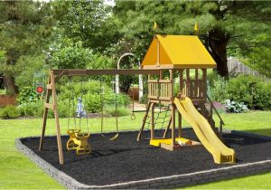 Backyard fort Kit Play Mor Childish Glee Swing Set Handcrafted Outdoor Structures