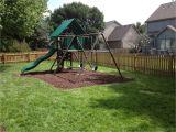 Backyard fort Kit Wooden Swing Sets Kit Outdoor Play Playground Backyard Kids Fun