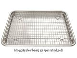 Baking Sheet with Wire Rack Amazon Com Stainless Steel Cooling Rack Fits Quarter Sheet Baking