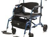 Bariatric Rollator Transport Chair Combo Medline Combination Rollator Transport Wheelchair In Blue