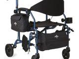 Bariatric Transport Chair Walmart Medline Combination Rollator Transport Wheelchair Blue Walmart Com
