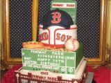 Baseball Bat Cake Decorations 100 Edible Fenway Park Baseball Stadium themed Cake Fondant and Gum