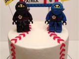 Baseball Cake Decorations Lego Ninjago and Baseball Cake Made for Brothers Celebrating