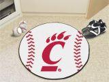 Baseball Field area Rug University Of Cincinnati Baseball Mat 27 Diameter Baseball Shaped