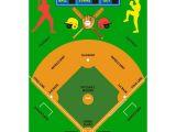 Baseball Field Rug La Rug Fun Time Baseball Field Multi Colored 3 Ft X 5 Ft area Rug