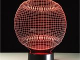 Baseball Light Fixture 2018 Cool 3d Baseball Lamp Gift Night Light 7 Rgb Lights Dc 5v Usb