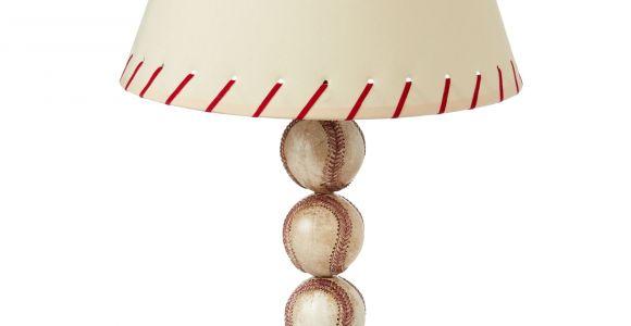 Baseball Light Fixture Stacked Baseball Table Lamp Baseball Table