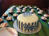 Baseball themed Cake Decorations Dodger Cake Cupcakes Cake Decorating Pinterest Dodgers Cake