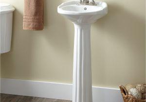 Bathroom Design Ideas Pedestal Sinks Victorian Ultra Petite Porcelain Pedestal Sink In 2018