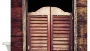 Bathtub Doors Vs Curtain Saloon Doors Shower Curtain by Bestshowercurtains
