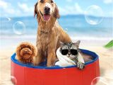 Bathtub for Dogs Pets Pvc Washing Pond Dog Tub Bed Foldable Pet Play Swimming Pool