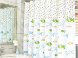 Bathtub Liner for toddlers Wendana Funny Cartoon Fish for Kids Fabric Bathroom Shower