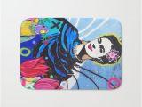 Bathtub Painting Frida Frida Kahlo Bath Mat by Paola Gonzalez