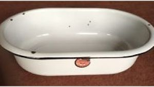 Bathtub Porcelain or Enamel Vintage Enamel Wash Tub Antique Porcelain Enamelware Bath
