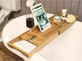 Bathtub Rack Uk Bamboo Wooden Over Bath Tray Caddy Rack Shelf Tablet