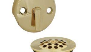 Bathtub Remodel Drain Kit Trip Lever Tub Drain Trim Kit with Overflow In Polished