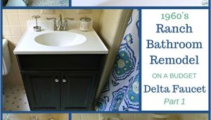 Bathtub Remodel Faucet 1960 S Ranch Bathroom Remodel Delta Linden Lavatory Faucet
