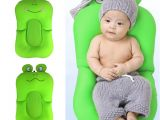 Bathtub Seats for Babies Frog Shape Foldable Baby Bathtub Bathing Cushion Shower Newborn Baby