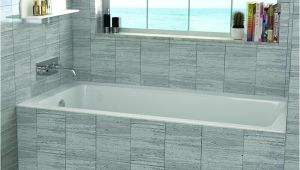 "Bathtub Surround Dimensions Fine Fixtures 48"" X 32"" Drop In soaking Bathtub & Reviews"