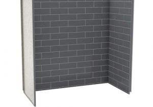 Bathtub Surround Grey Maax Utile Metro Thunder Grey 6030 Tub Wall Kit at Menards