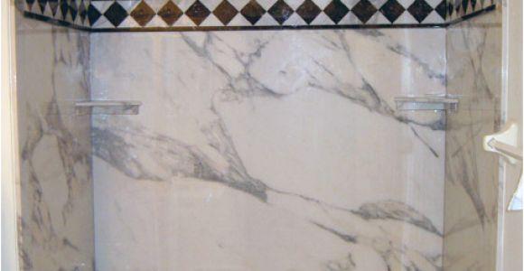 Bathtub Surround Material Options Decorative Stone Marble or Granite Pattern Tub & Shower