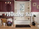Bathtub Surround with Window Window Kits for Baths & Showers Liberty Home solutions Llc