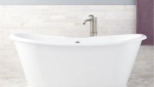 "Bathtubs 4 Feet Long 71"" Kagon Bateau Cast Iron Skirted Tub Freestanding Tubs"