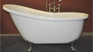 """Bathtubs 55 Inch 55"""" Acrylic Slipper Clawfoot Tub"""