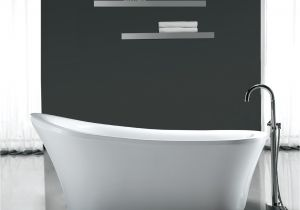"Bathtubs 70 Ove Decors Rachel 70"" X 34"" Freestanding Acrylic Slipper"