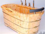 Bathtubs Brands Alfi Brand Ab1136 61 Inch Free Standing Cedar Wood Bath