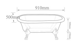 Bathtubs Dimension Small Clawfoot Tub