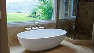 Bathtubs Luxury 9 Luxury Freestanding soaking Bathtub with Overflow White