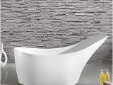 "Bathtubs Modern Vs Maykke Carson 67"" Modern Oval Acrylic Bathtub Sloped"
