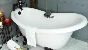 "Bathtubs Smaller Than 60 Slipper 60"" Small Claw Feet & Integrated Drain Clearance"