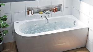 Bathtubs soaking J Mode J Shaped Right Handed 6 Jet Whirlpool Shower Bath