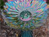 Bathtubs Yard Art Glass Bird Bath Glass Garden Art Yard Art Repurposed