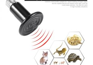 Battery Powered Heat Lamp for Chickens Infrared Ceramic Heat Emitter Lamp Bulb Pet Appliance Heat Lamp for