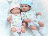 """Best Baby Bathtub for Twins 11"""" Twins Girl Boy Reborn Silicone Baby Full Bath Baby"""