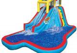 Best Backyard Water Slide Amazon Com Banzai Spring Summer toys Slide N soak Splash Park
