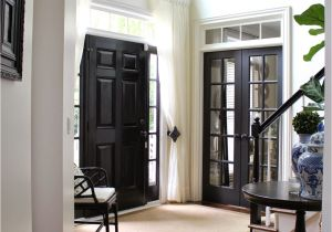 Best Black Paint Color for Interior Doors Black Internal Doors Pinterest Curtain Door Door Curtains and