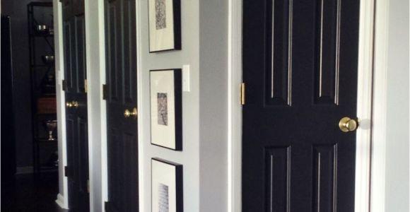 Best Black Paint for Interior Doors How to Paint Interior Doors Black Update Brass Hardware White