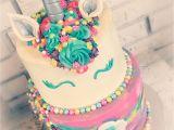 Best Cake Decorating Classes Near Me Unicorn Rainbow buttercream Tiered Cake Unicorn Stuff Pinterest